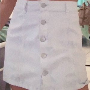 Tillys white a line skirt